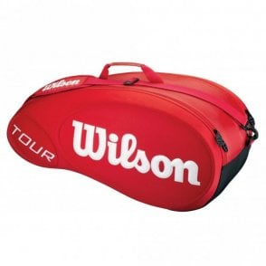 Wilson Tour Moulded 6 Racket Bag Red