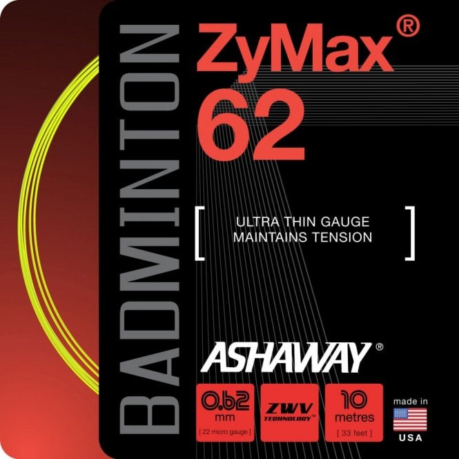 Ashaway Zymax 62 Badminton String 200m Reel