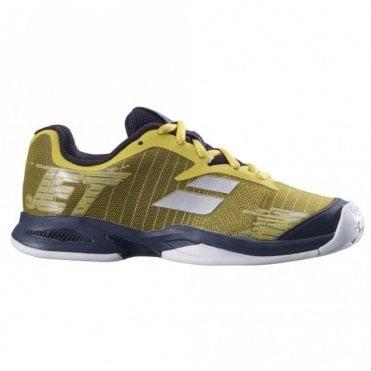 Jet All Court Junior Tennis Shoes 2019 Dark Yellow/Black