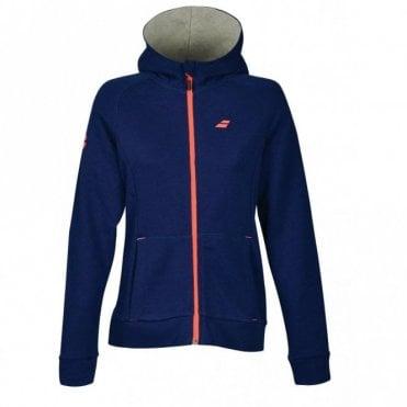 Ladies Core Hood Sweat Zipped Jacket - Estate Blue