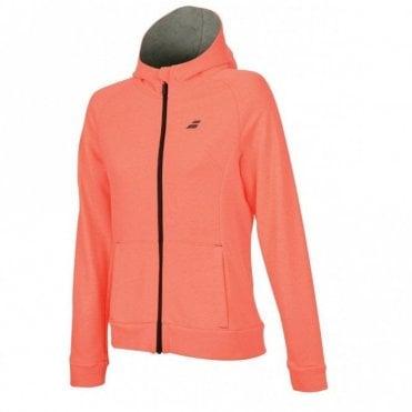Ladies Core Hood Sweat Zipped Jacket - Fluo Strike