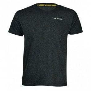 Mens Core Cotton T-Shirt Black Tennis / Badminton