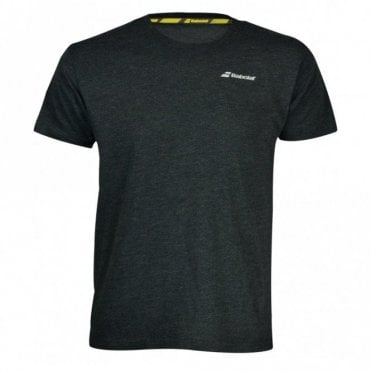 Mens Core Cotton T-Shirt Black Tennis / Badminton