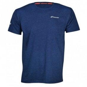 Mens Core Cotton T-Shirt Blue Tennis / Badminton