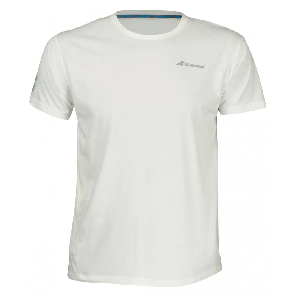 9cdeecadb521 Babolat Core Tee Cotton 2019 White T-Shirt @ MDG Sports
