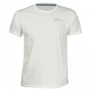Mens Core Cotton T-Shirt White Tennis / Badminton