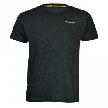 Mens Core Flag Club Tee Black Tennis / Badminton T-Shirt