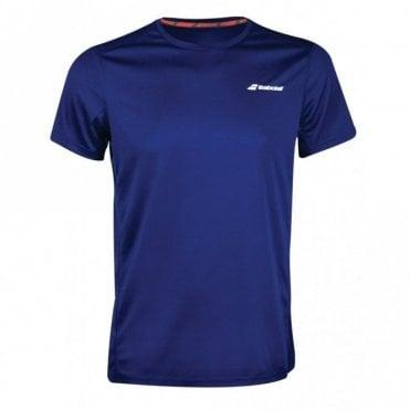 Mens Core Flag Club Tee Estate Blue Tennis / Badminton T-Shirt