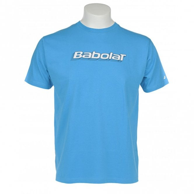 Babolat Mens Training Basic T-Shirt Blue