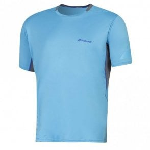 Performance Crew Neck T-Shirt Blue Tennis / Badminton