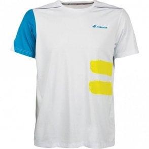 Performance Crew Neck T-Shirt White Tennis / Badminton 2018