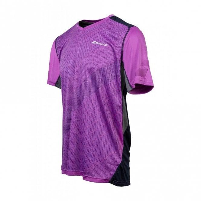 Babolat Performance V-Neck T-Shirt Purple Tennis / Badminton