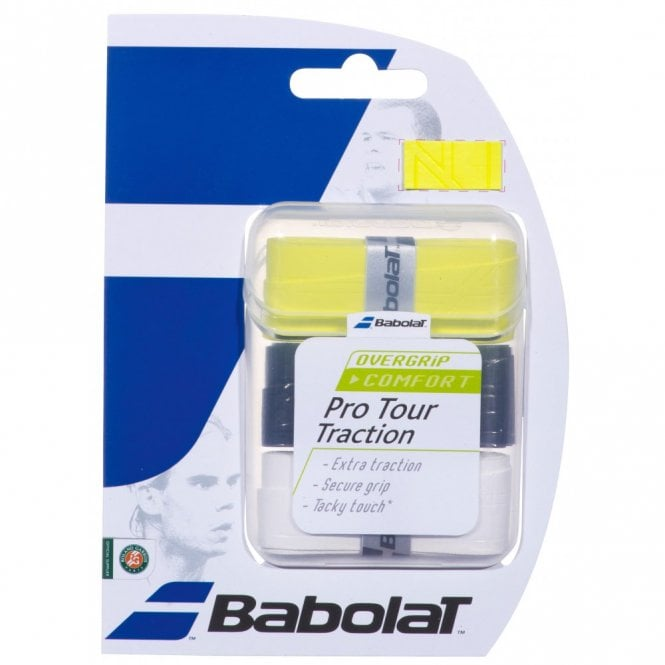 Babolat Pro Tour Traction Overgrips x 3 grips Assorted Colours