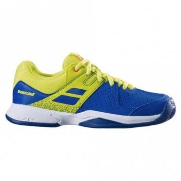 Pulsion All Court Junior Tennis Shoes 2019 - Blue/Fluo Aero