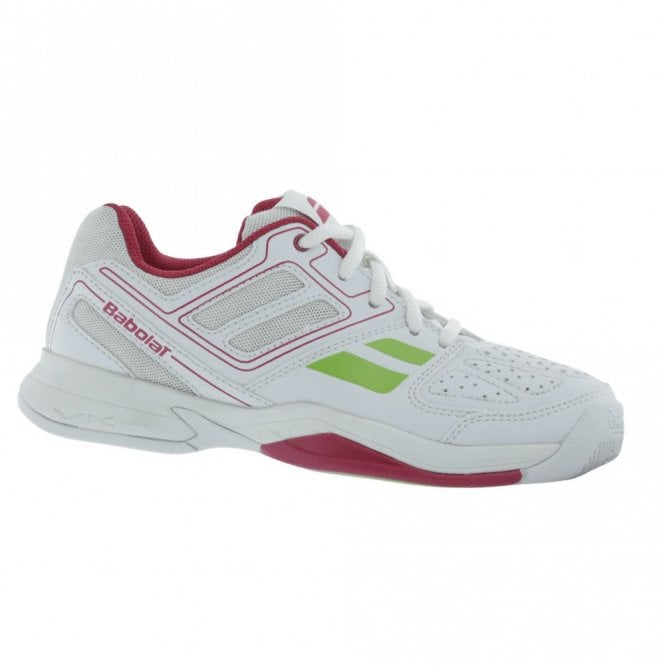 Babolat Pulsion BPM Junior Girls All Court Tennis Shoes White/Pink