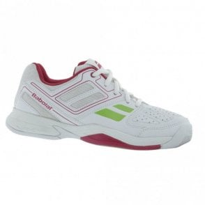 Pulsion BPM Junior Girls All Court Tennis Shoes White/Pink