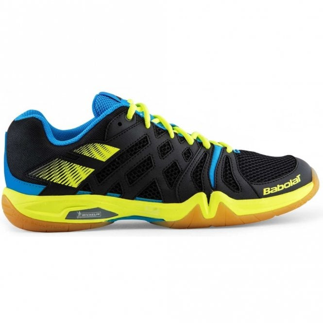 Babolat Shadow Team Mens Badminton Shoes 2017 Black/Yellow/Blue