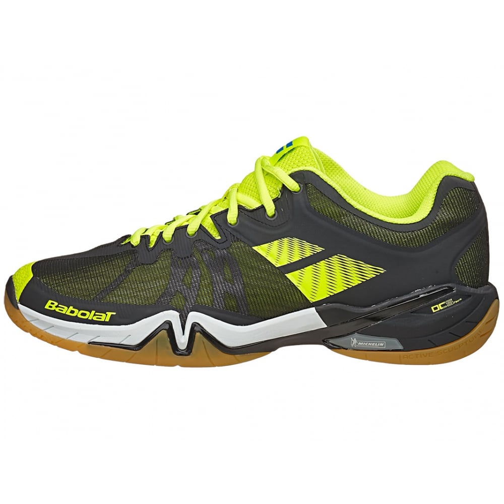 Babolat Men/'s Badminton Shoes Shadow Tour Indoor Court Sport Shoe Blue Black
