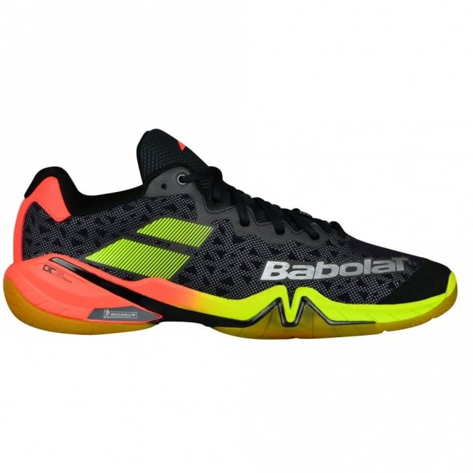 Babolat Shadow Tour Mens Badminton Shoes 2018 Black/Red/Yellow