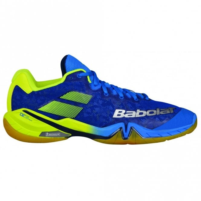 Babolat Shadow Tour Mens Badminton Shoes 2018 Blue/Yellow