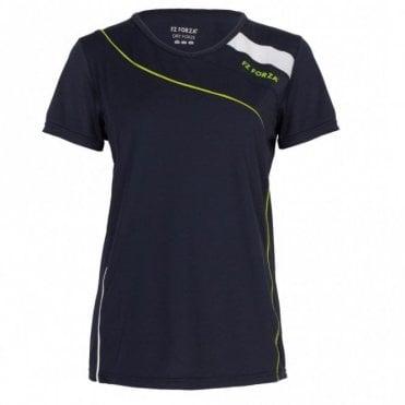 Alice Ladies Badminton T-Shirt Navy Blue