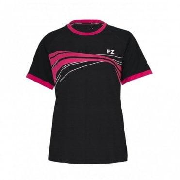 Elisa Tee Ladies Polo Shirt Black