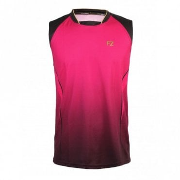 Enrico Unisex Sleeveless Shirt Bright Rose