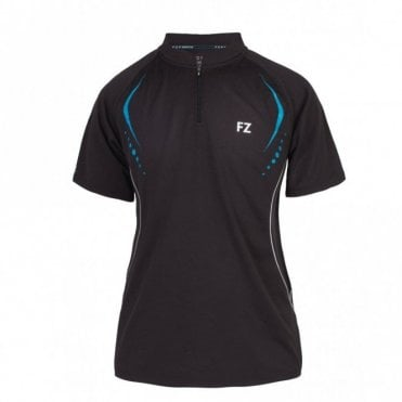 Fleur Tee Ladies Polo Shirt Black