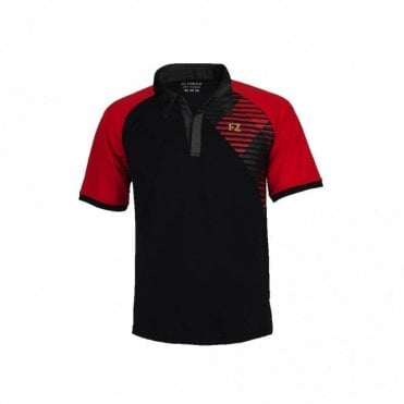 Gilbert Unisex Polo Shirt Tee Black/Red