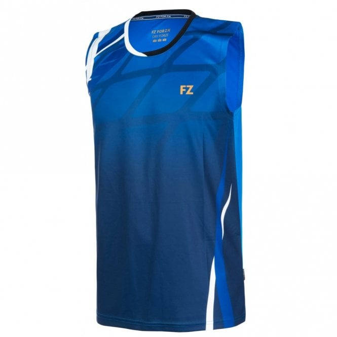 FZ Forza Greg Mens Sleeveless Badminton T-Shirt Blue 2017