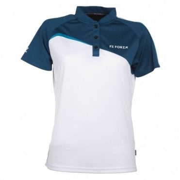 Ilsa White Ladies Polo Shirt