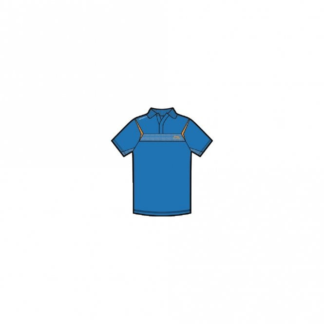 Li-Ning Mens Sports Polo Shirt Blue