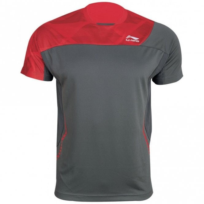 Li-Ning Mens T-Shirt Red/Grey