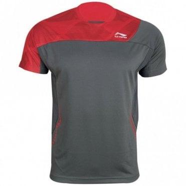 Mens T-Shirt Red/Grey