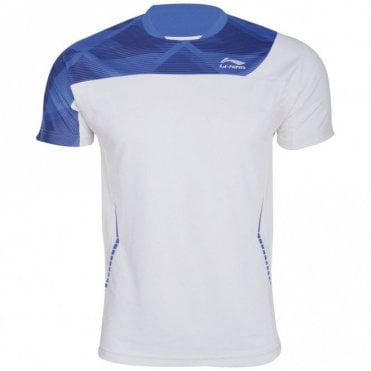 Mens T-Shirt White/Blue