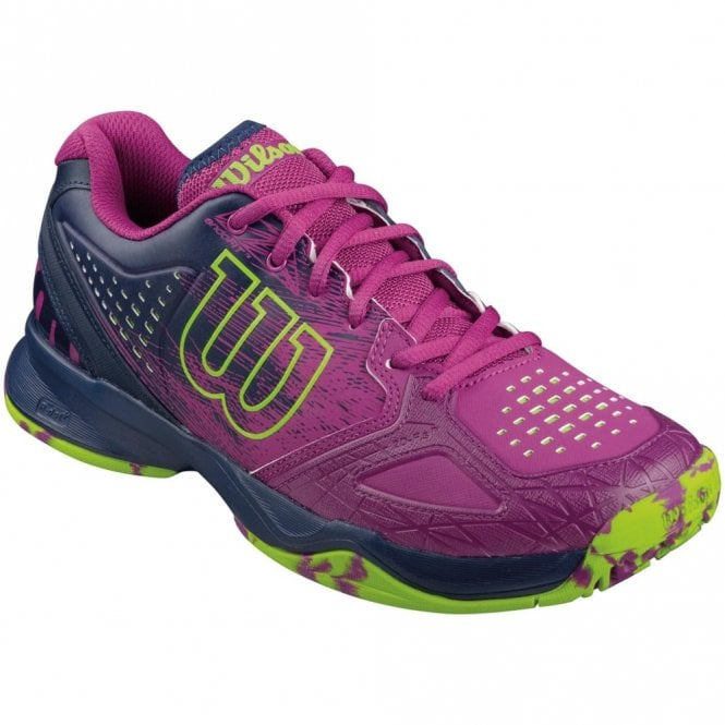 Wilson Kaos Comp Womens All Court Tennis Shoes Pink