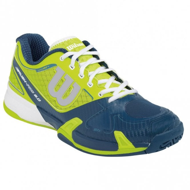 Wilson Rush Pro 2.0 Mens Tennis Shoes Lime/Blue