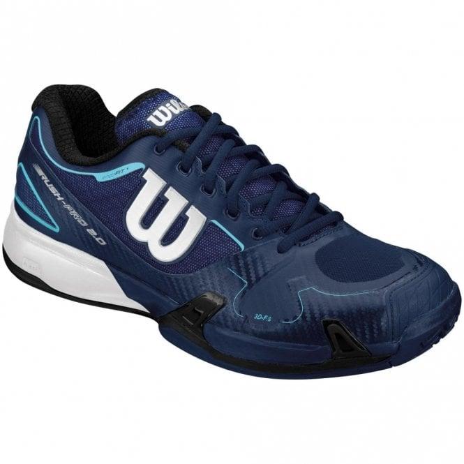 Wilson Rush Pro 2.0 Mens Tennis Shoes Navy Blue