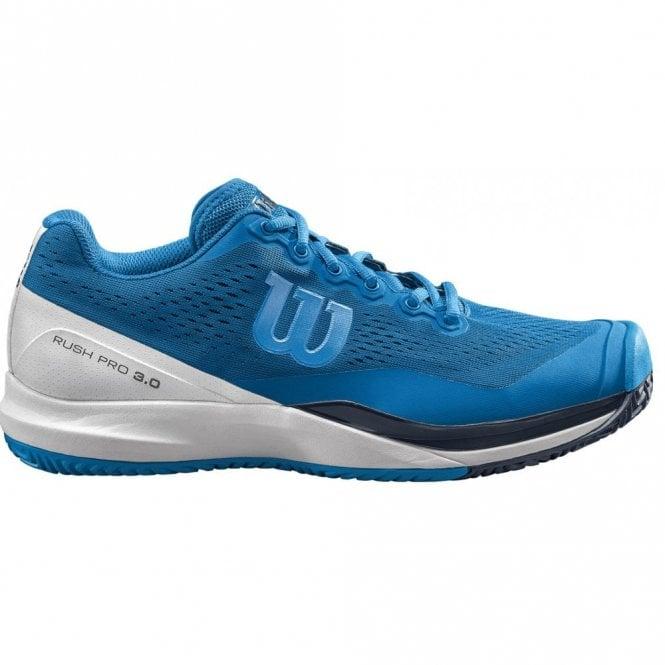 Wilson Rush Pro 3.0 Mens Tennis Shoes 2019 Blue Footwear   MDG Sports 26503e293e4