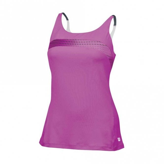 Wilson Womens Colour Flight Strappy Tank - Peony