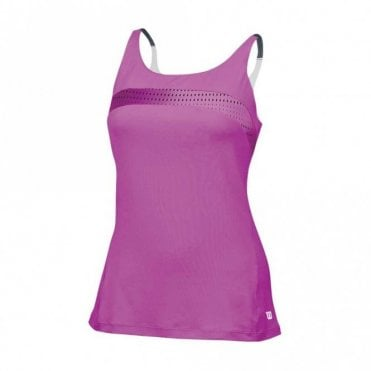 Womens Colour Flight Strappy Tank - Peony