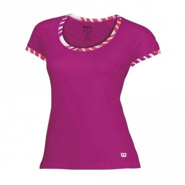 Womens Tulip Cap Sleeve Top - Pink