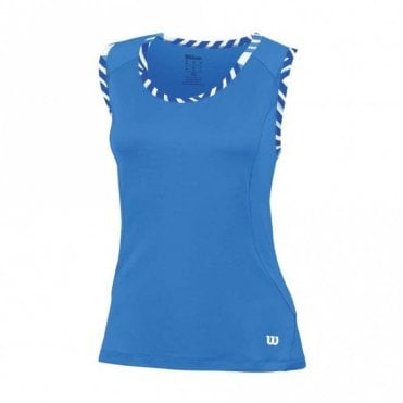 Womens Tulip Tank Vest Top - Blue
