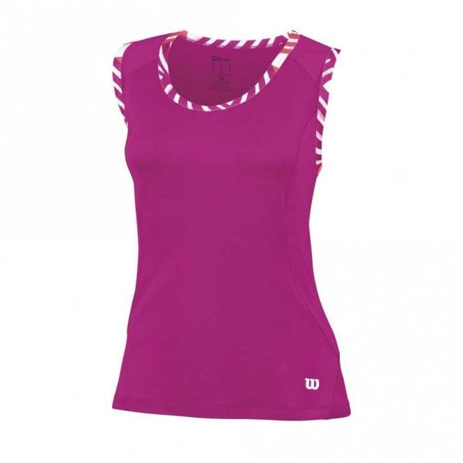 Wilson Womens Tulip Tank Vest Top - Pink