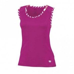 Womens Tulip Tank Vest Top - Pink