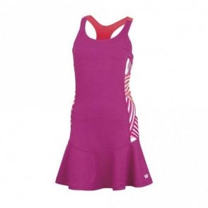 Womens Watercolour Racerback Dress - Pink
